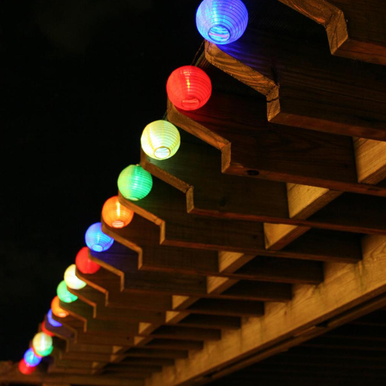 Solar Chinese Lantern Fairy Lights