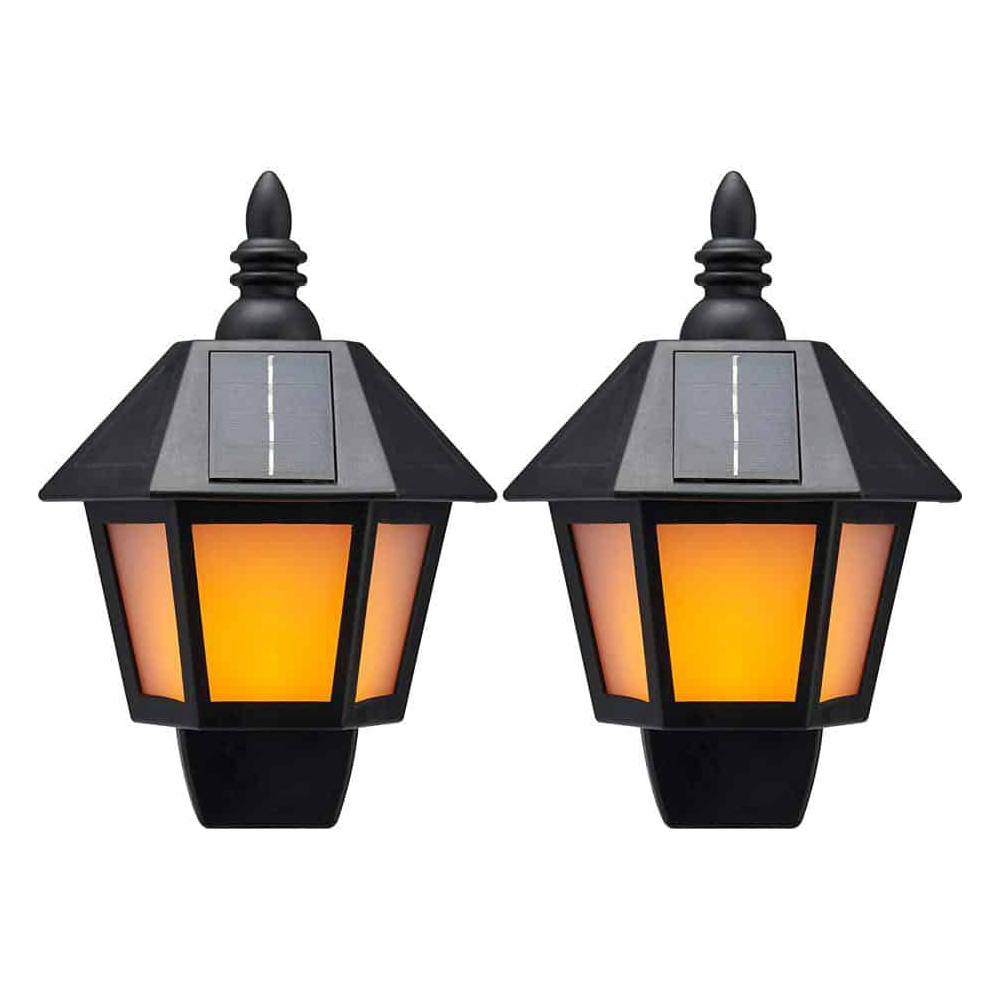 Click to view product details and reviews for Solar Dancing Flame Wall Lantern Twin Pack.