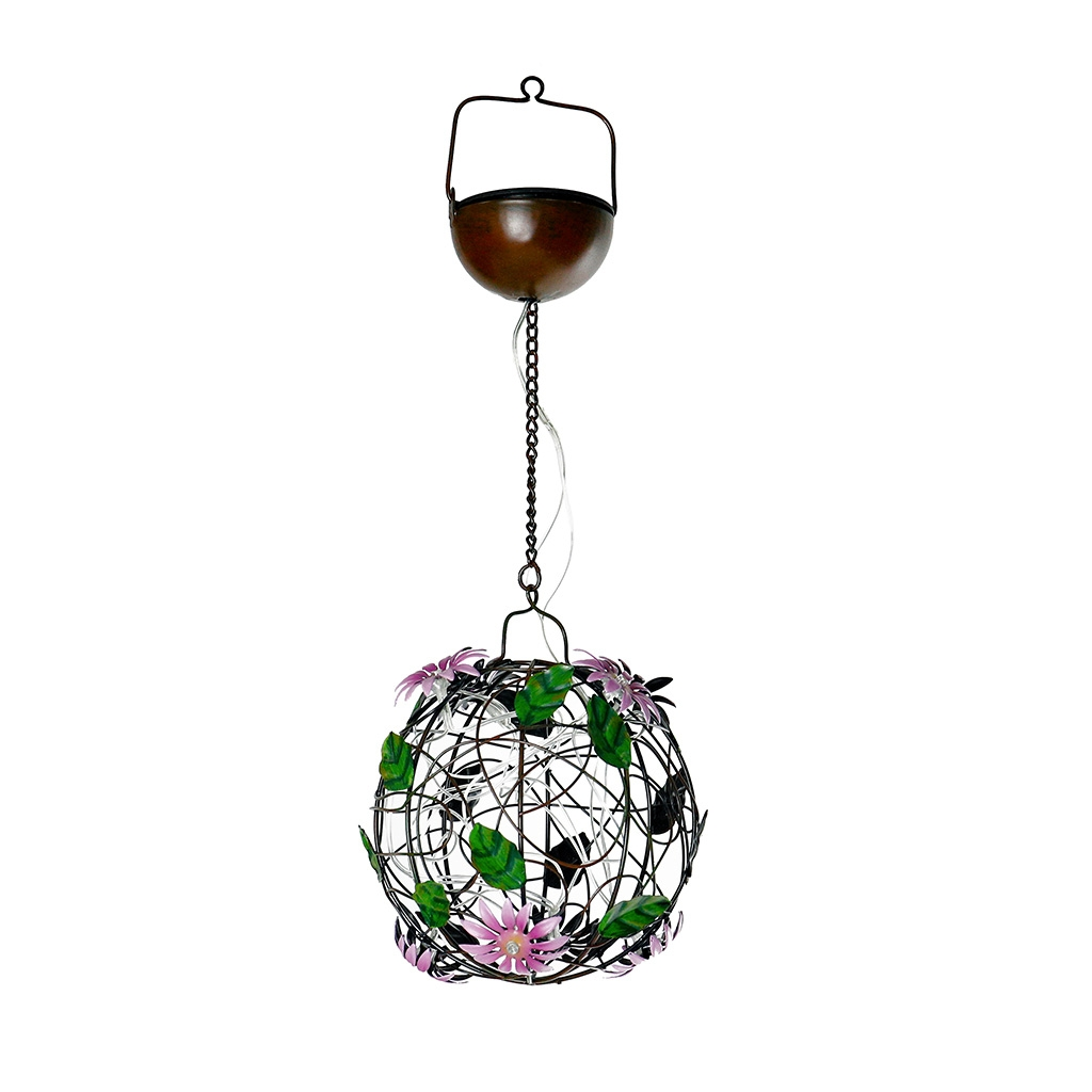 Click to view product details and reviews for Solar Flower Ball Hanging Light.