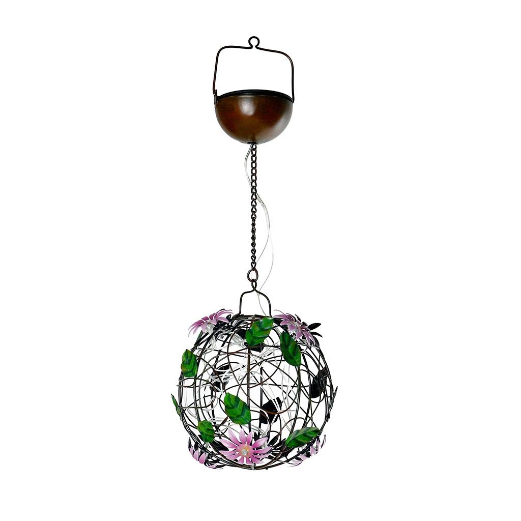 Solar Flower Ball Hanging Light