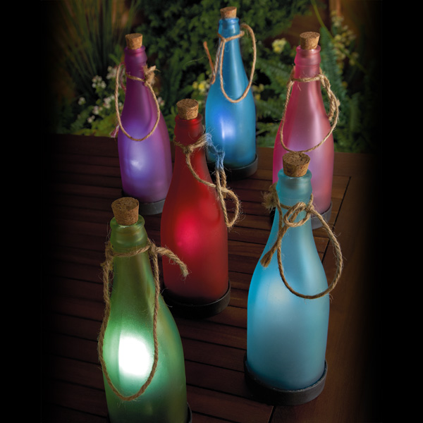 Click to view product details and reviews for Solar Frosted Glass Bottles.