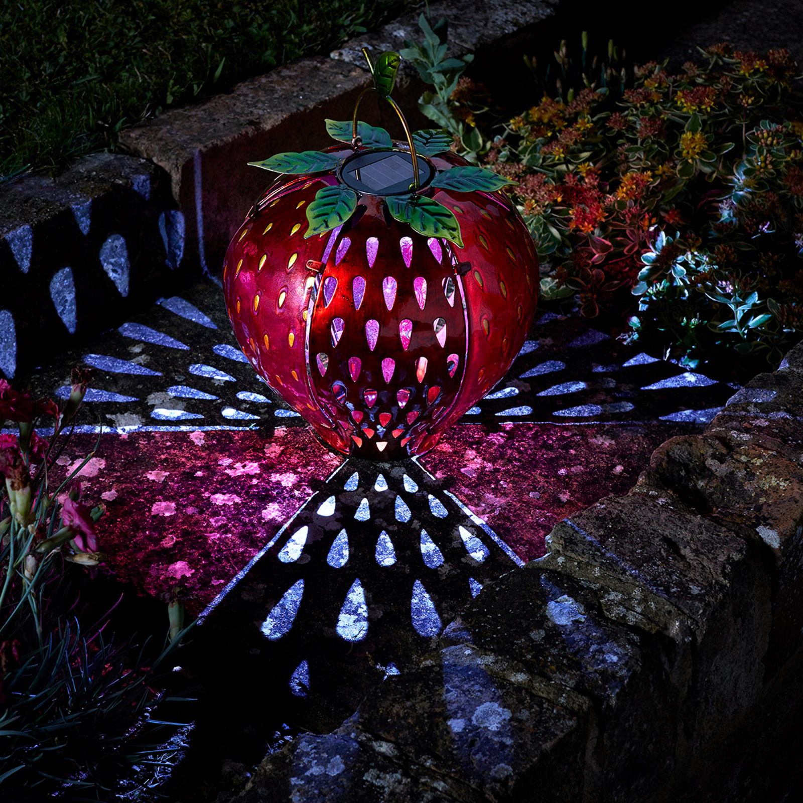 Solar Funky Fruit Strawberry Lantern