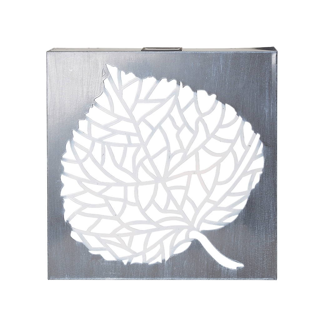 Click to view product details and reviews for Solar Wall Art Leaf By Eden Bloom.
