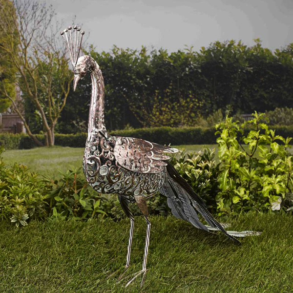 Click to view product details and reviews for Solar Metal Peacock.