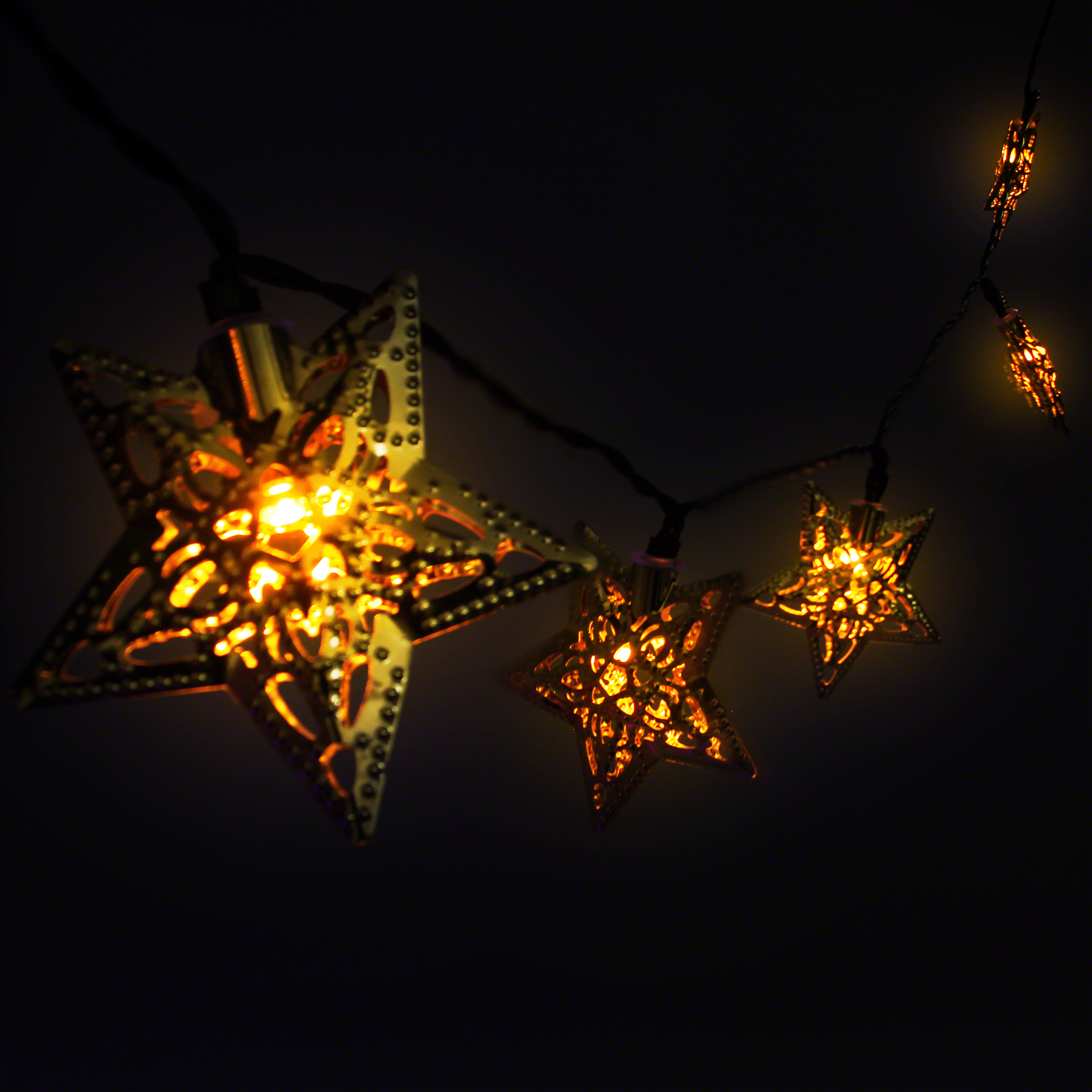 Click to view product details and reviews for Solar Metal Star Fairy Lights.