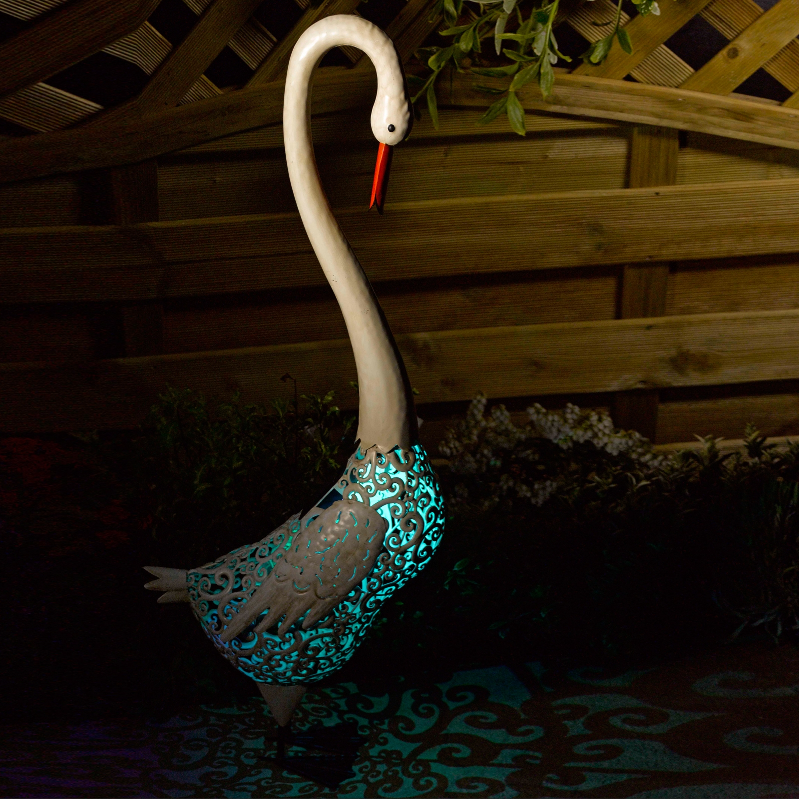 Click to view product details and reviews for Solar Silhouette Swan.