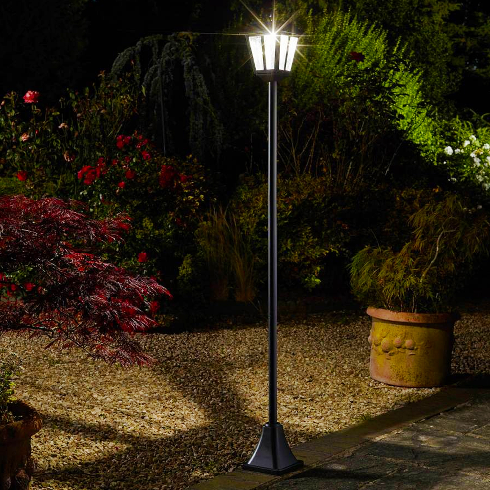 Click to view product details and reviews for Solar Whitehall Lamp Post.