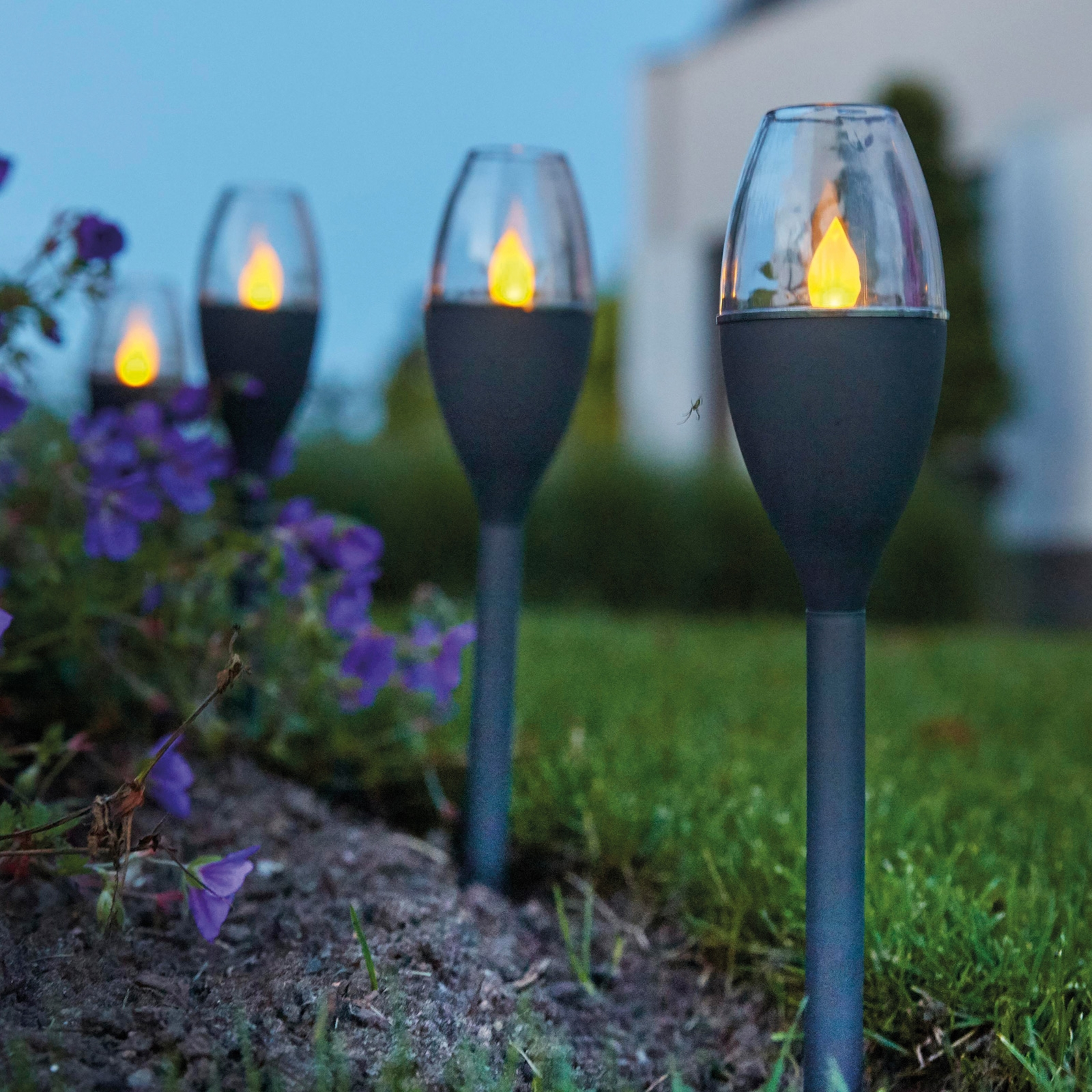 Click to view product details and reviews for Solar Mini Candle Stake Light.