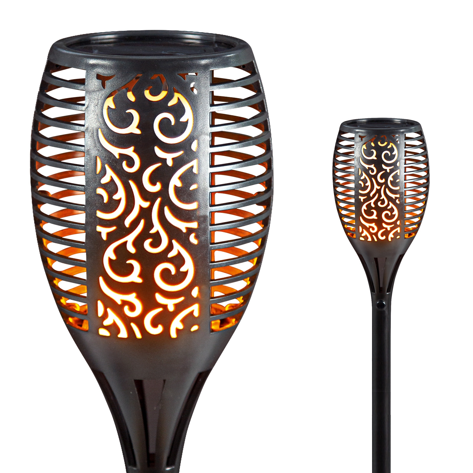 Click to view product details and reviews for Solar Flickering Flame Garden Torch.