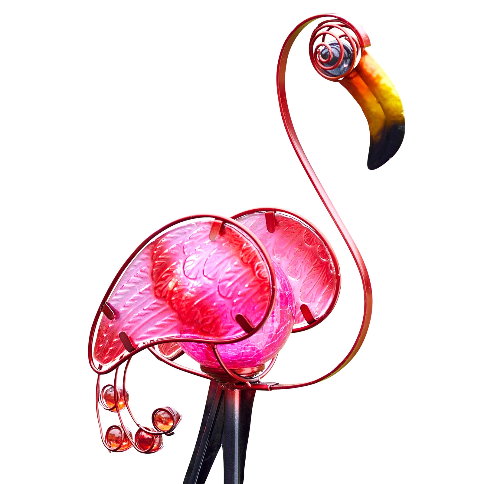 Click to view product details and reviews for Solar Flamingo Stake Light.