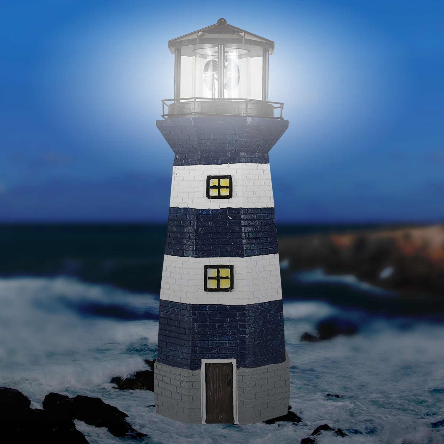 Click to view product details and reviews for Solar Revolving Lighthouse.
