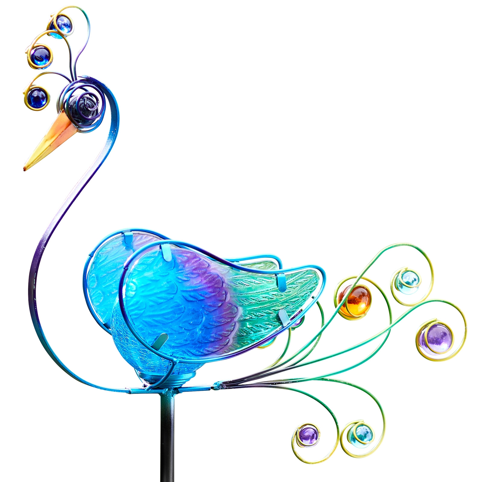Click to view product details and reviews for Solar Peacock Stake Light.