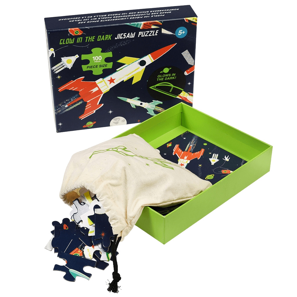 Click to view product details and reviews for Space Age Glow In The Dark Jigsaw Puzzle.