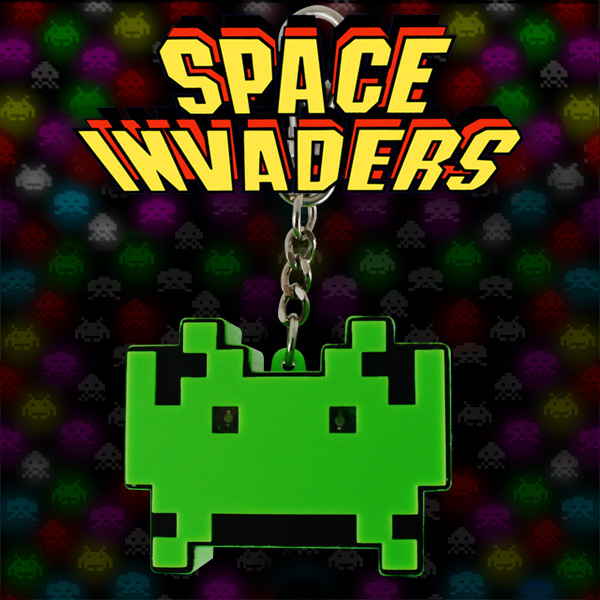 Space Invaders LED Keychain