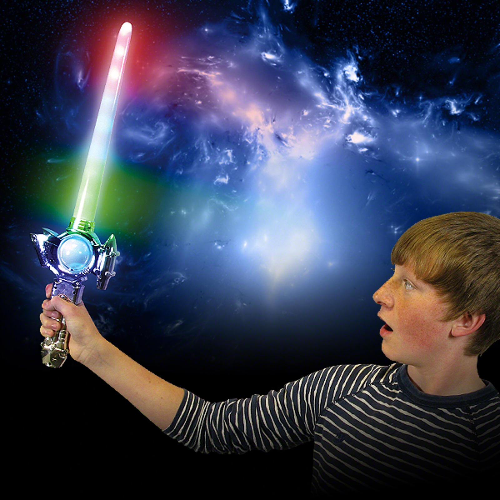 Click to view product details and reviews for Flashing Space Sword Wholesale.