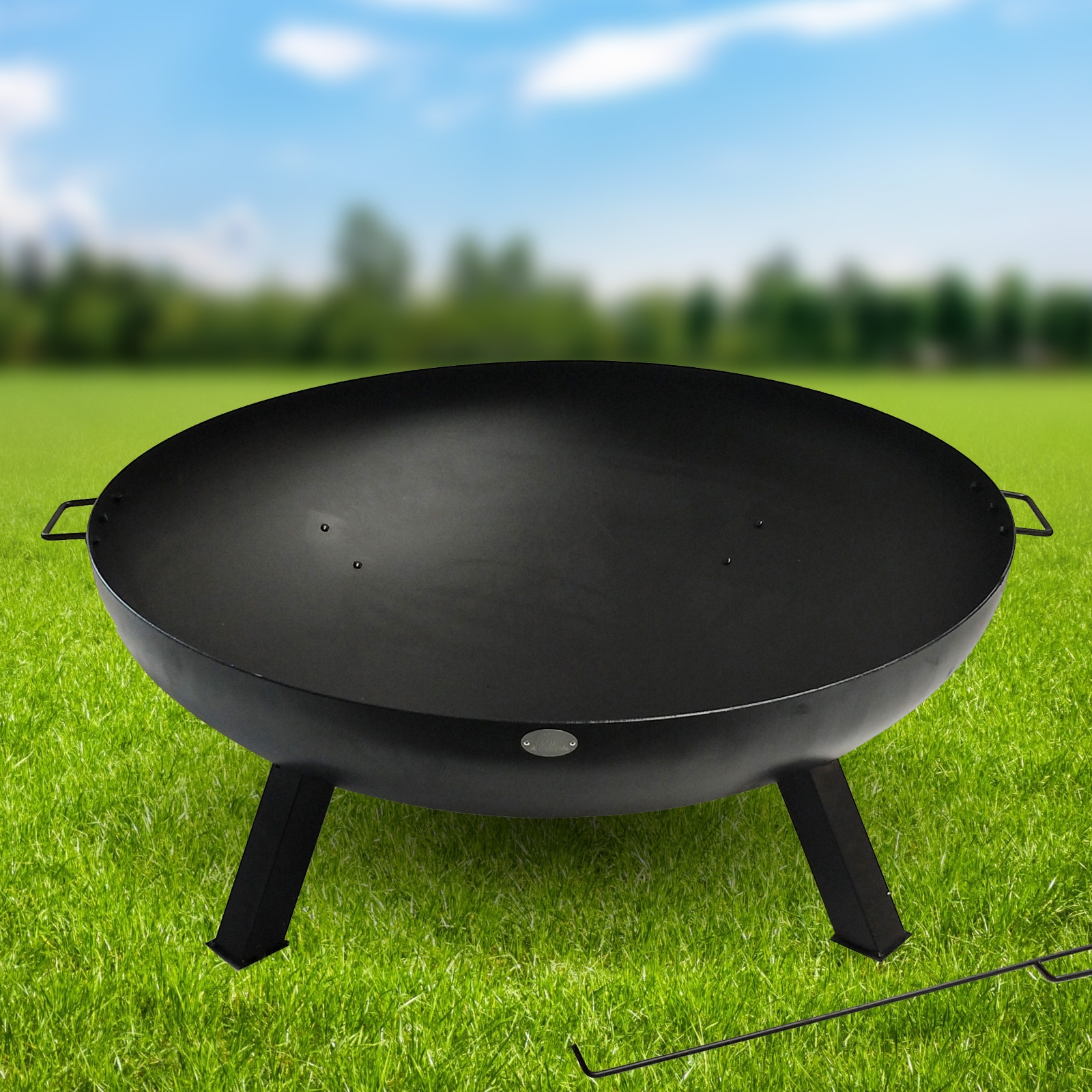 St Louis Fire Pit And Bbq Grill With Rain Cover By Fire And Dine
