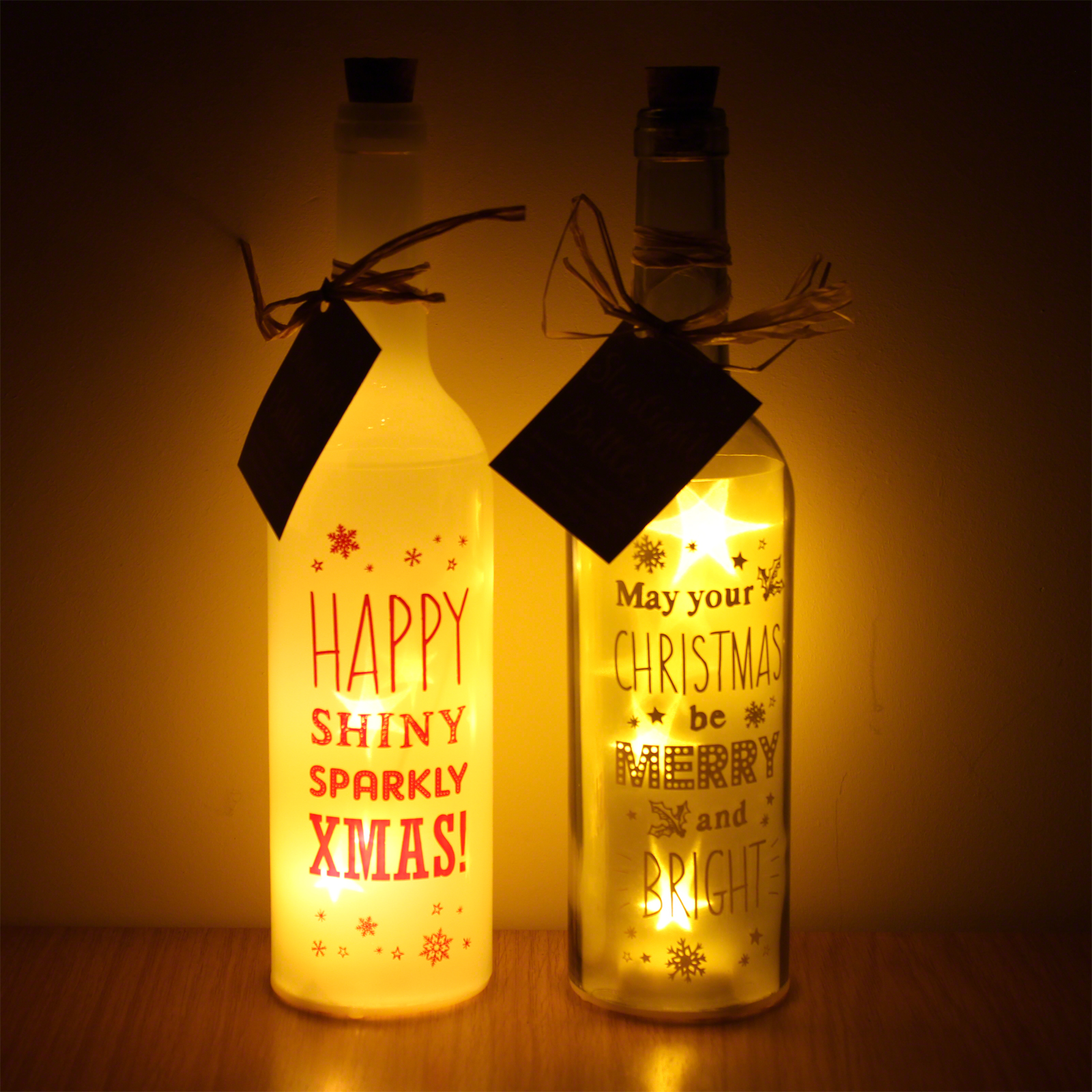 Click to view product details and reviews for Starlight Christmas Bottle Lights.