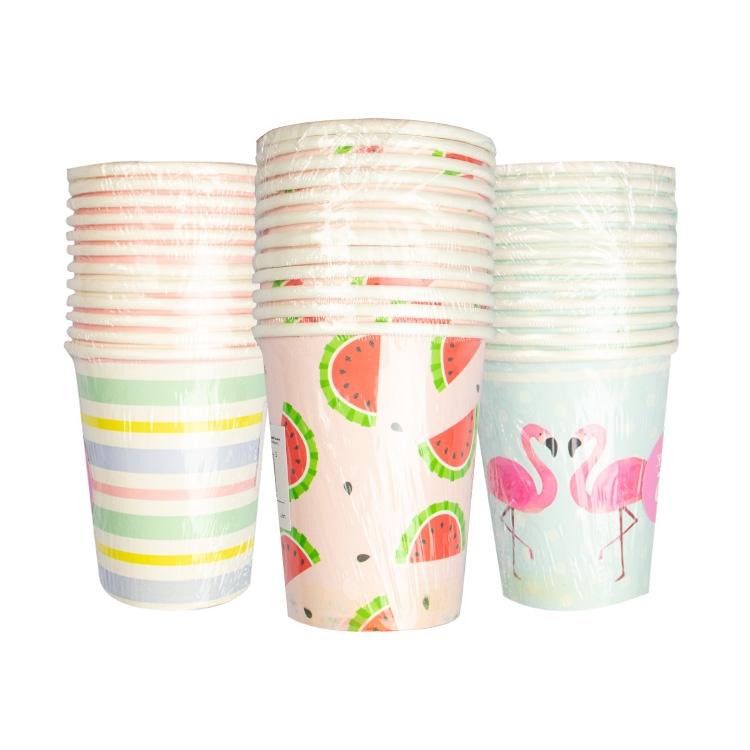 Summer Paper Cups X 12