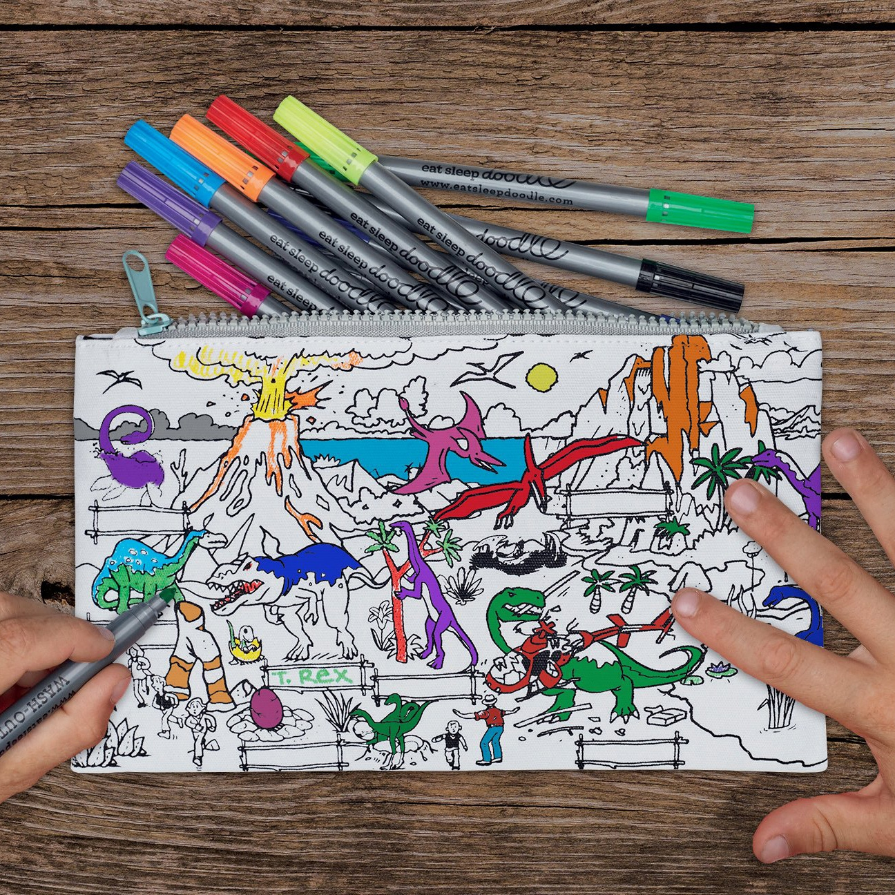 The Doodle Pencil Case Dinosaur