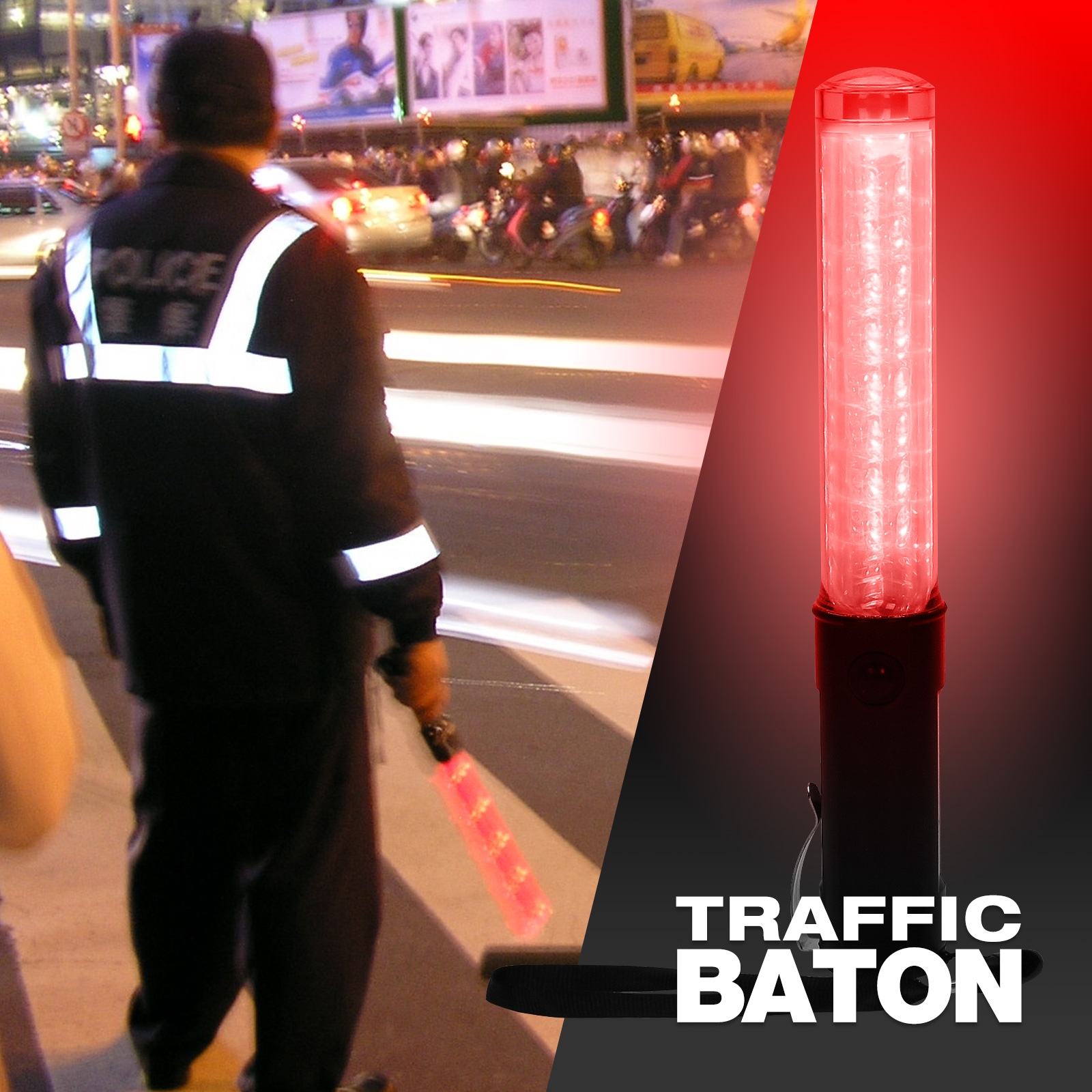 Light Up Traffic Baton And Torch