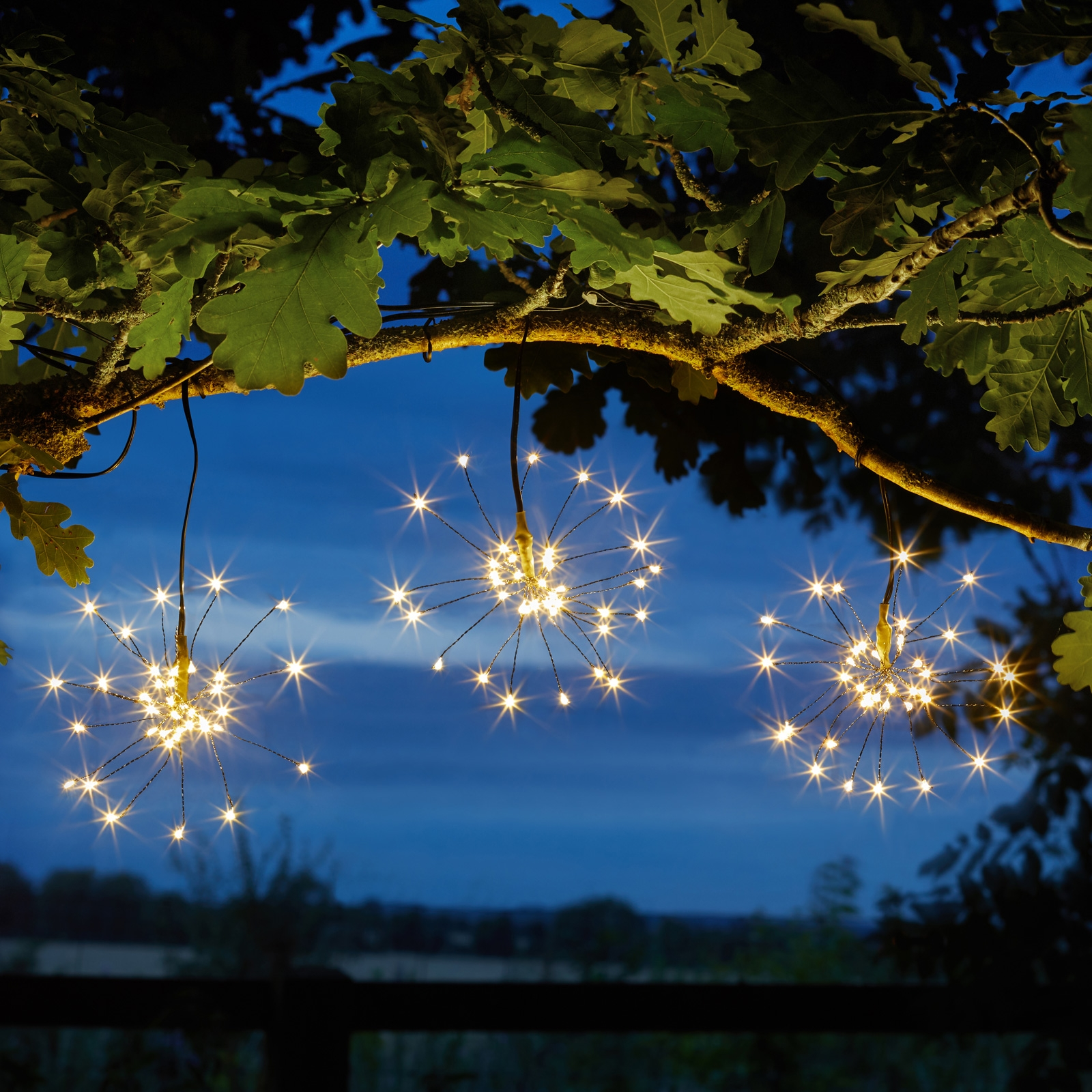 Click to view product details and reviews for Solar Triple Starburst String Light Dual Colour.