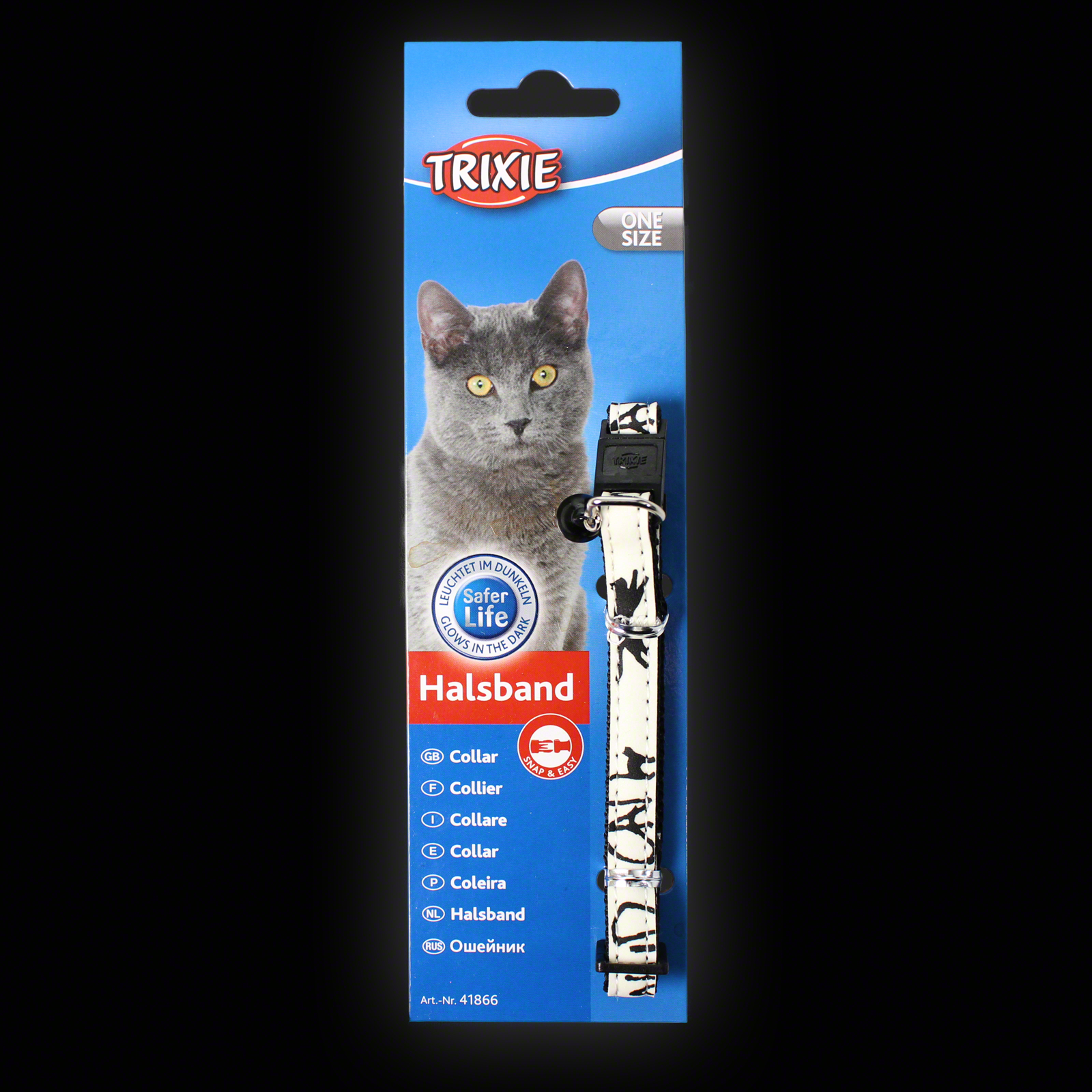 Click to view product details and reviews for Trixie Glow In The Dark Cat Collar.