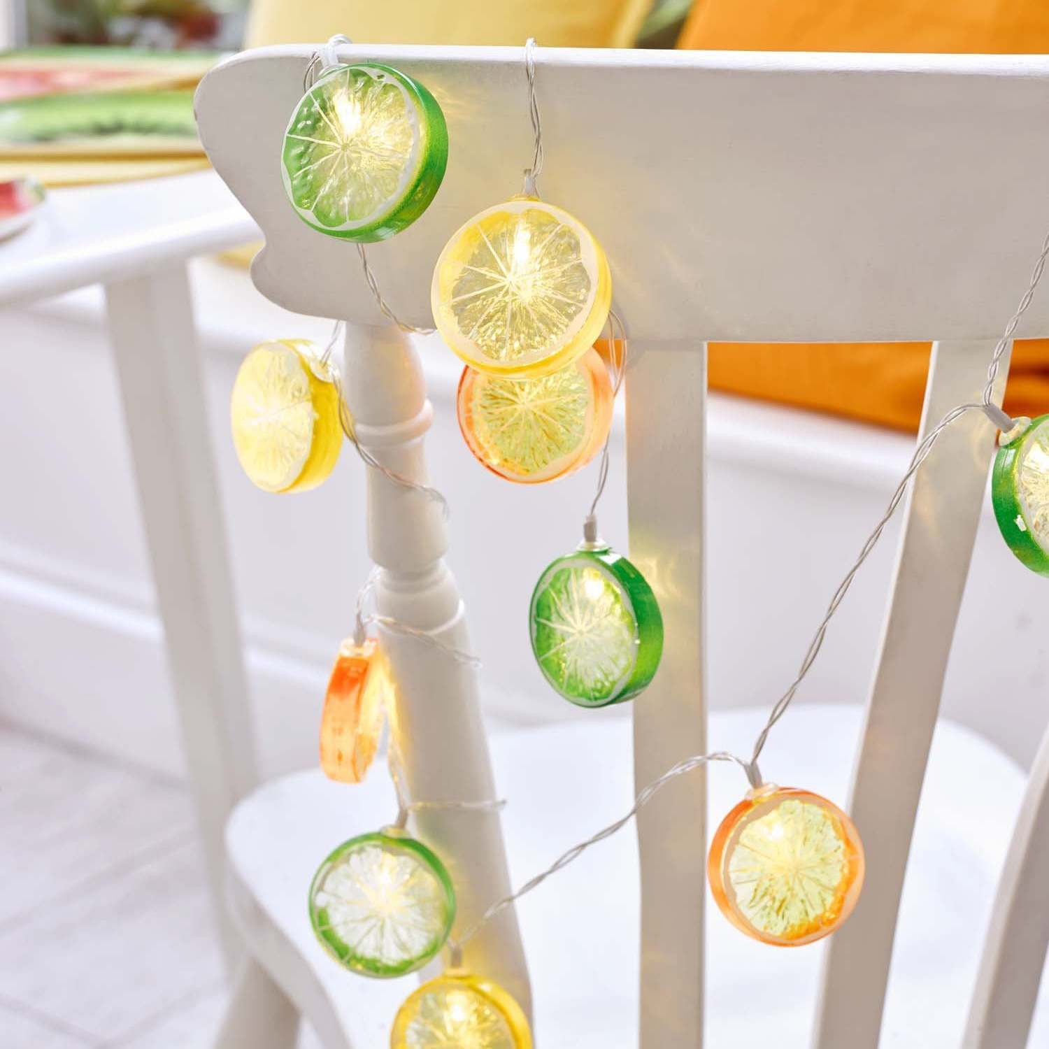 Click to view product details and reviews for Tropical Fruit Slice String Lights.