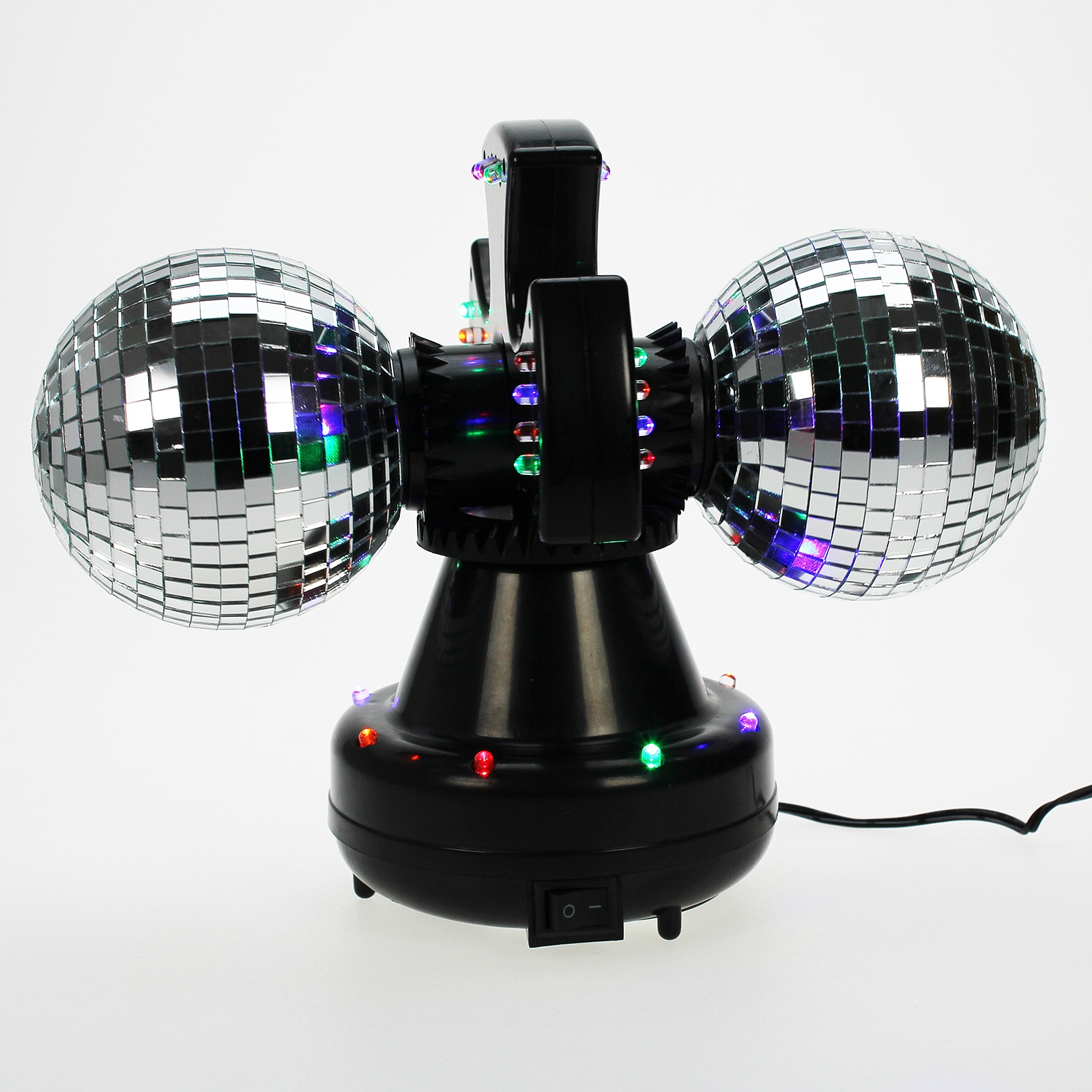 Click to view product details and reviews for Twin Mirrorball With Leds.