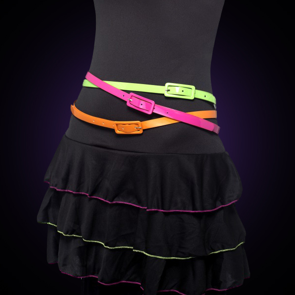 Neon Belts 3 Pack