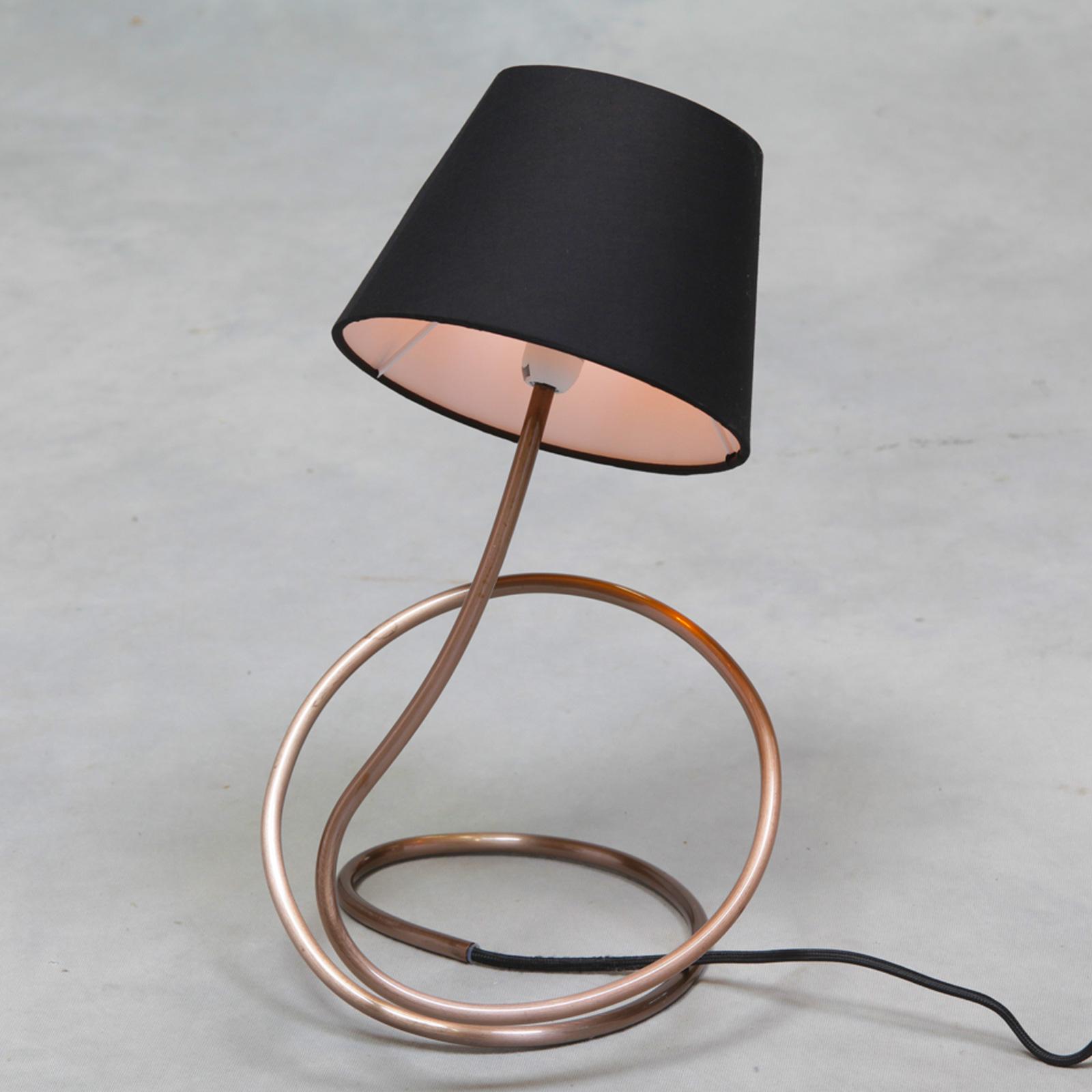 Vintage Copper Twist Table Lamp Cl96