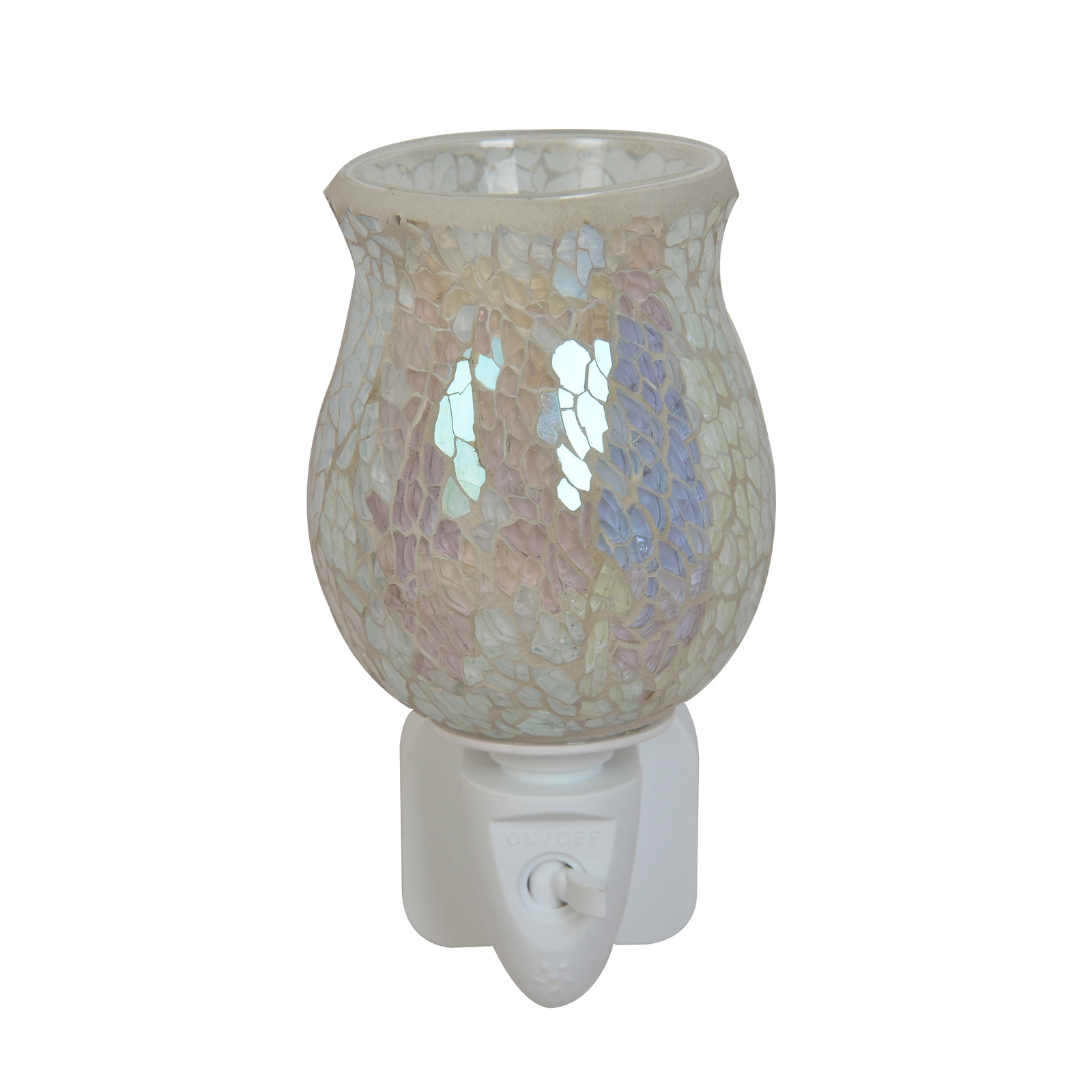 Click to view product details and reviews for White Crackle Plug In Warmer.