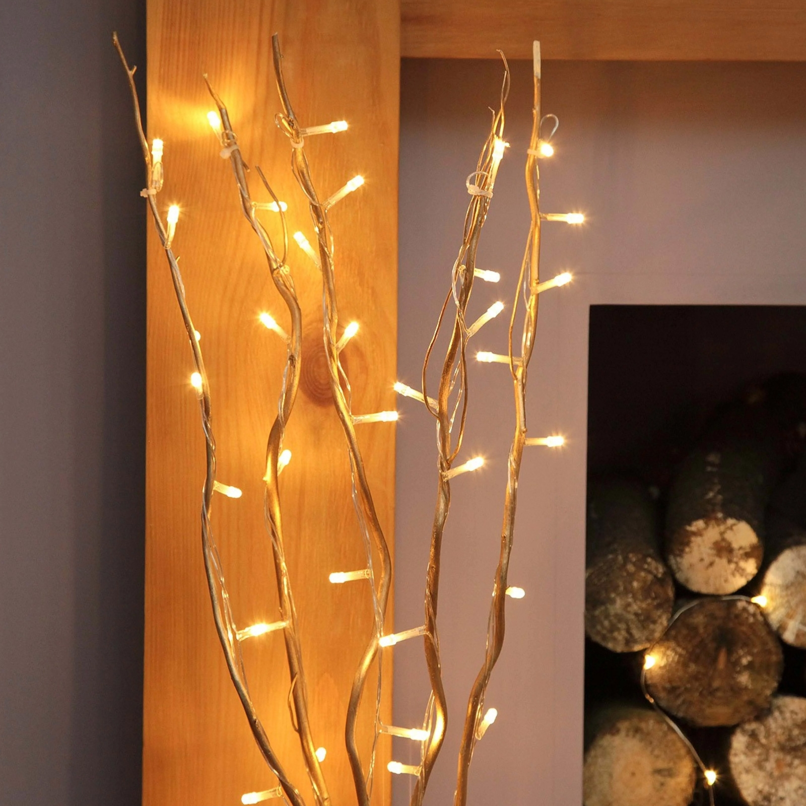 Click to view product details and reviews for Gold Willow Twig Lights.