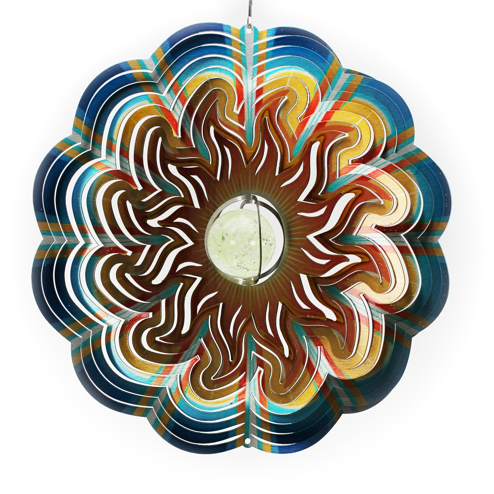 Click to view product details and reviews for Sun Glow Ball Wind Spinner.