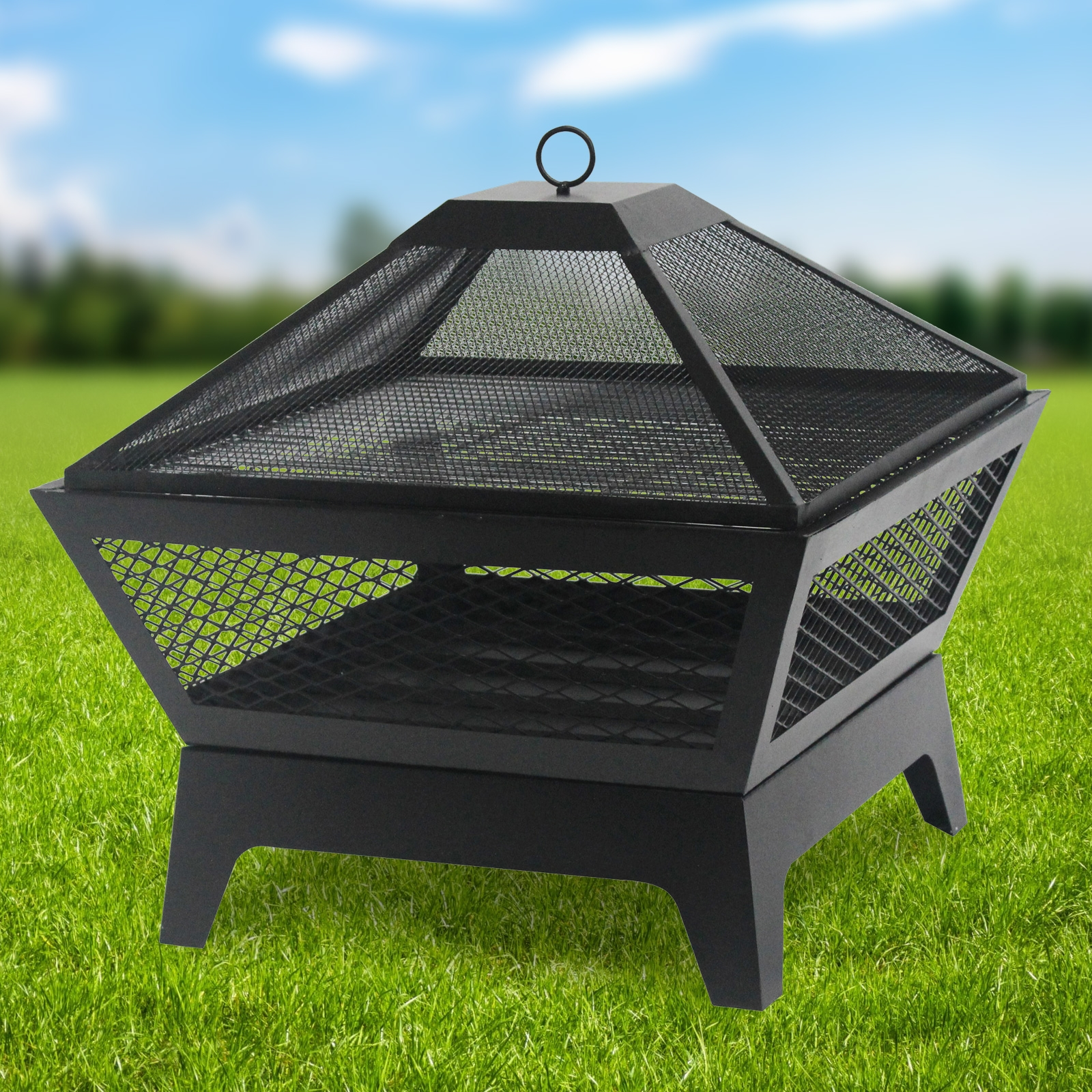 Click to view product details and reviews for Windsor Steel Fire Pit And Bbq Grill With Rain Cover By Fire And Dine.