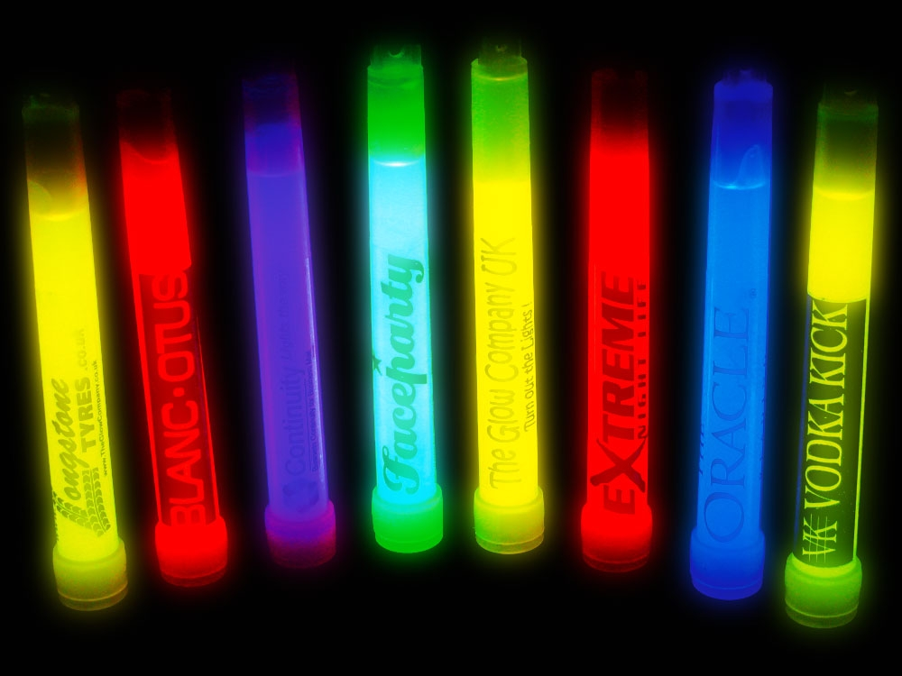 Printed 6 inch glow sticks